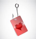 Fishing for love concept illustration design Stock Photography