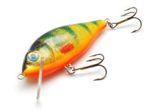 Fishing lure. Isolated on white Stock Images