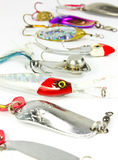 Fishing lure. Isolated on white Royalty Free Stock Images
