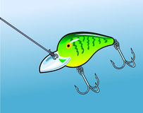 Fishing Lure. Which may be typically used to catch bass or other game fish Stock Image