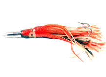 Fishing Lure. Squid type trolling lure for fishing Stock Photo