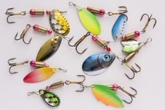 Fishing lure, bait spoon. Recreation sport equipment Stock Photography