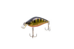 Fishing lure for catching predator isolated on white background Royalty Free Stock Photo
