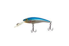Fishing lure for catching predator isolated on white background Royalty Free Stock Image