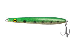 Fishing lure for catching predator isolated on white background Stock Images