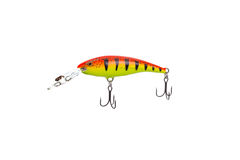 Fishing lure for catching predator isolated on white background Royalty Free Stock Images