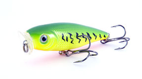 Fishing lure green yellow Royalty Free Stock Photos