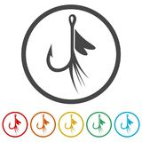 Fishing Lure icon, 6 Colors Included. Simple vector icons set Royalty Free Stock Images