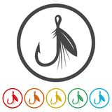 Fishing Lure icon, 6 Colors Included. Simple vector icons set Royalty Free Stock Photo