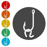 Fishing Lure icon. Simple  icons set Royalty Free Stock Image