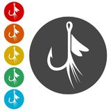 Fishing Lure icon. Simple vector icons set Royalty Free Stock Photo