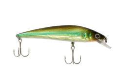 Fishing lure isolated on white background. Fishing lure isolated on a white background Royalty Free Stock Image