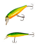 Fishing lure isolated on white. Royalty Free Stock Photography