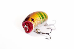 Fishing lure isolated on white. Royalty Free Stock Images