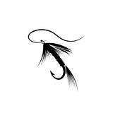 Fishing lure line. Fly fishing lure  river sea Royalty Free Stock Image