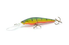Fishing Lure (Wobbler) Isolated On White Royalty Free Stock Images