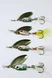 Fishing lures Stock Photo