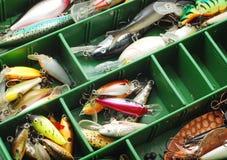 Fishing lures royalty free stock photos