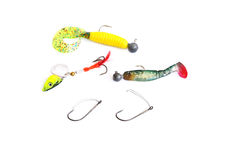 Fishing lures Stock Photos