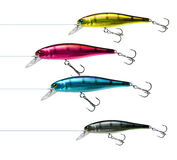 Fishing lures cmyk Stock Image