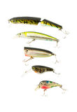 Fishing lures Royalty Free Stock Images