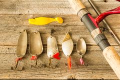 Fishing lures Royalty Free Stock Photos