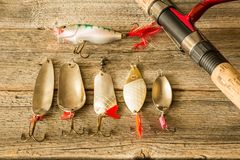Fishing lures Stock Image
