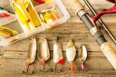 Fishing lures Royalty Free Stock Photo