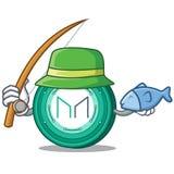 Fishing Maker coin mascot cartoon. Vector Illustration Stock Photo