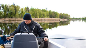 Fishing Male Royalty Free Stock Image
