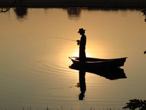 Fishing Man Stock Photography
