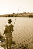 Fishing man royalty free stock photography