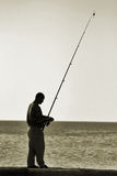 Fishing man. In Egypt, Hurghada Royalty Free Stock Photos