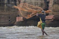 Fishing at Mavil Aru Sri Lanka Stock Photo