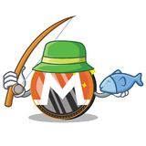 Fishing Monero coin character cartoon. Vector illustration Royalty Free Stock Image