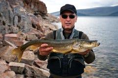 Fishing in Mongolia Stock Photos