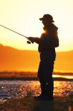 Fishing in the Mongolia Royalty Free Stock Image