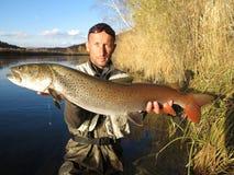 Fishing in Mongolia Stock Image