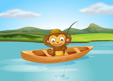 A fishing monkey Stock Photography