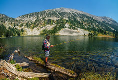 Fishing in Montana`s High Country Stock Photography