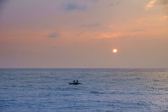 Fishing in the morning. Early morning fishing in Pondicherry, Tamil Nadu Royalty Free Stock Photos