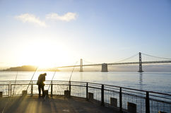 Fishing Morning Royalty Free Stock Photography