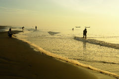 Fishing in the morning Royalty Free Stock Images
