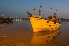 Fishing Motor Boat Royalty Free Stock Photography