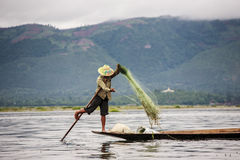 Fishing - Myanmar Royalty Free Stock Photo