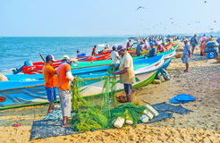 Fishing in Negombo Royalty Free Stock Images