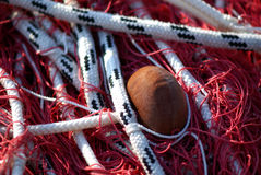 Fishing net. In the harbour Royalty Free Stock Photo