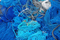Fishing net. View of a net to fish in Mallorca royalty free stock photography