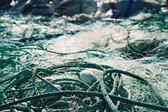 Fishing net. A lot of fishing nets Royalty Free Stock Images