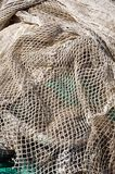 Fishing net. On the dock Royalty Free Stock Photography